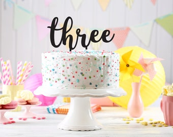 Birthday Party Cake Topper, Kids party cake topper, Birthday cake Topper age, 3th birthday cake topper, party decoration, topper