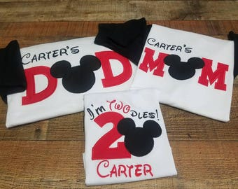 Celebrating mickey family pack/mickey 2nd birthday shirt/ Disney birthday shirt/mickey mouse birthday shirt