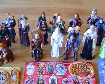 LORD Of THE RINGS Cake Topper 29 Figures Set Birthday Party Cupcakes Figurines Supplies Miniatures Kinder Surprise