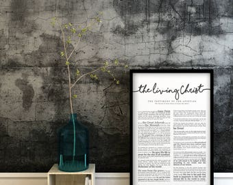 The Living Christ Print- LDS- Various Sizes
