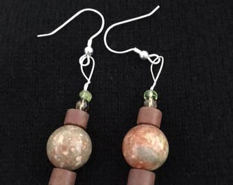 Unikite Bead Earrings