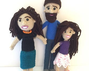 Family Portrait Dolls, Look Alike Dolls of the Whole Family, Custom Family Dolls, Personalized Dolls of Family, Custom Dolls Group Discount