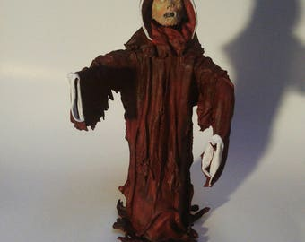 Zombie Claus man Undead red white cloak zombie figure single hand Made