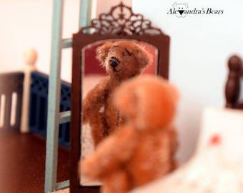 Handmade Miniature Teddy Bear Collectible Teddy Bear Dollhouse Miniature Best Gift For Her Stuffed Teddy Bear Handmade With Love