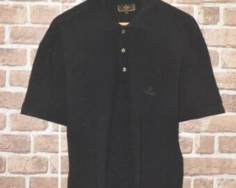 Vintage Fendi polo black shirt size 50 roma