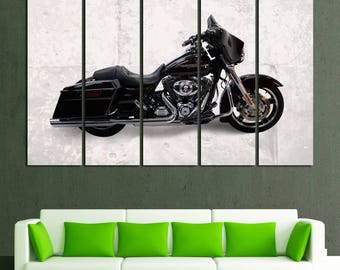 Harley Davidson Wall Art Harley Davidson Wall Decor Harley Davidson Canvas Motorbike Wall Art Motorcycle Canvas Motorcycle Decor Harley Art