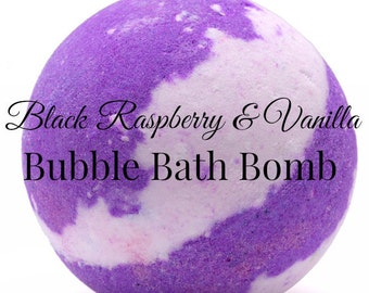 BLACK RASPBERRY & VANILLA Bubble Bath Bomb,Bath Fizzie,Bubble Bar,Bubble Bath,Spa Bath Bomb