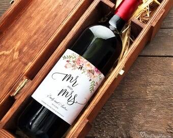 Wedding Wine Labels, Wine Bottle Labels, Wedding Wine Printable, Wine Labels Template, #A049, INSTANT DOWNLOAD, Editable PDF