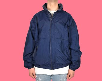 Vintage Navy Windbreaker