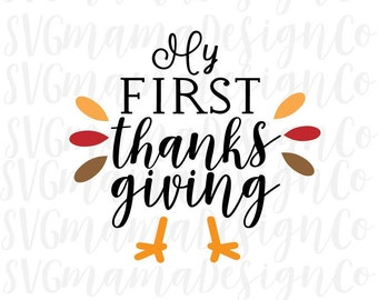 First Thanksgiving Baby SVG Cut File for Cricut and Silhouette