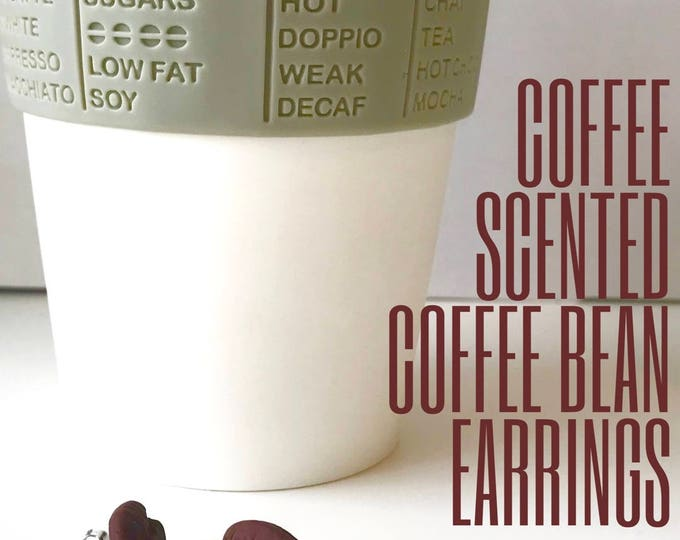 Scented Coffee Bean Earrings with Stainless Steel Posts - Perfect Gift for the coffee lover!