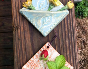 Stamped Clay Wall Pockets
