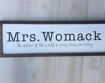 Teacher Gift Large Custom Wood Sign