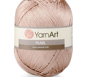 YARNART PEARL Viscose yarn summer yarn spring yarn color choice hand knit yarn hand knit crochetviscose summer viscose yarn shinny yarn