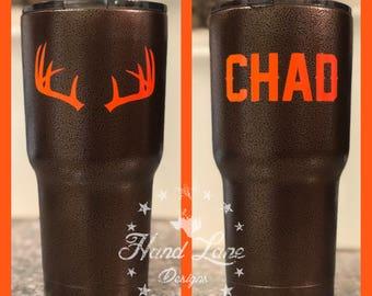 Hunting Deer Antler Tumbler YETI/RTIC/HOGG Tumbler 20oz or 30oz