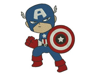 Superhero Marvel Captain America Embroidery Designs Embroidery Machine Instant Download Q8105