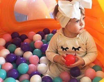 White Headwrap- White Headband; Knit Headwrap; Knit Headband; Baby Headwrap; Newborn Headwrap; Infant Headwrap; Toddler Headwrap; Headwrap