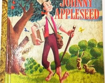 Johnny Appleseed book.  Little Golden Book.  Walt Disney book.  First Edition circa 1948.  Children's fiction. Disney.  Ted Parmalee