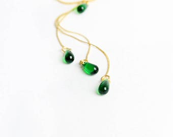 wedding necklace gifts/for/bridesmaids necklace green jewelry boho wedding emerald bridesmaids jewelry gifts green gold bridal necklace Y30