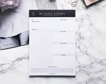 My Daily Agenda | Notepad | Undated Planner | Daily Planner | Deskpad