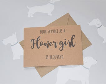 Will you be my, Be my Flower girl, Flower Girl card, Wedding card, Wedding stationary, Will you be my cards, Wedding party, Proposal