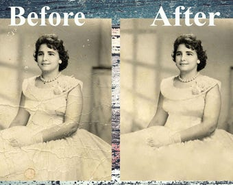 Restoration photos/Delete scratches and cracks/photo retouching