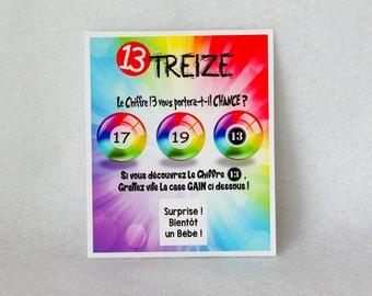 Beliebt ATTRAPE REVE 1 CARTE jeu à gratter personnalisé UQ52