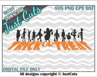 Trick or Treat SVG, halloween, trick or treat, trick or treaters, kids, shadow, svg, halloween svg, dxf, png, eps, kids svg, shadow svg