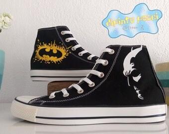Batman Hand Painted Custom Shoes