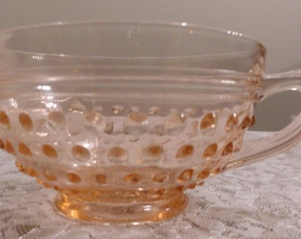 Pink Hobnail Anchor Hocking Cups