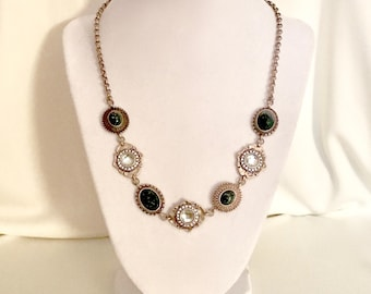 A beautiful Copper and Faceted Glass Necklace  GJ2916