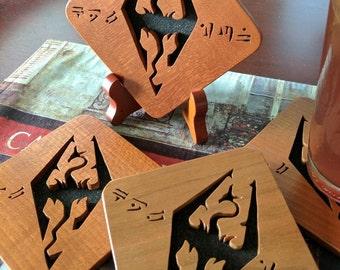 Skyrim Dragon Hand Cut Wooden Deskorations