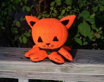 Jack-O-Lantern Pumpkin Kittypi | Handmade plush