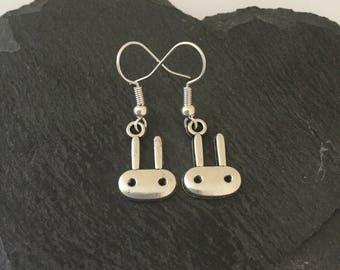 Rabbit earrings / bunny earrings/ rabbit jewellery / bunny jewellery/ rabbit lover gift / animal lover gift