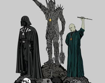 Dark Power T-shirt / Villains Tee / Sauron/ Darth Vader /Voldemort/ Star Wars / Harry Potter / Lord of The Rings /Free Shipping worldwide