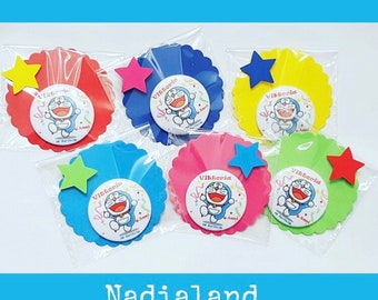 Souvenirs Birthday party kids-souvenirs feast Doraemon-Minnie-PjMAsk-Personalized magnets-wedding favor magnets-Birthday