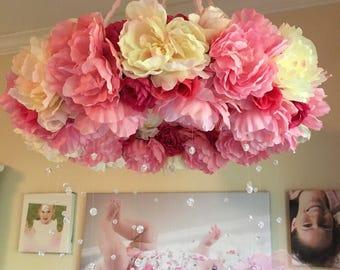 Floral Mobile/Nursery Mobile/Cute Nursery Decor/Crib Mobile/Flower Baby Mobile/Girls Mobile/Pink Mobile/Rose Mobile/Baby Girl Room Decor
