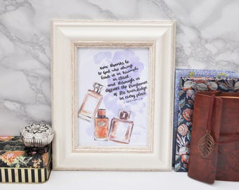 Now Thanks Be To God - Scripture Art - A6 Framed - 2 Corinthians 2:14 - Christian Gifts