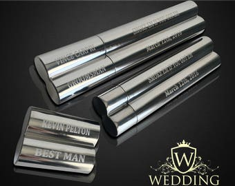 6 Groomsmen gifts  - 6 Engraved cigar cases - Gifts for him - Personalized Cigar holder - Personalize gift - Wedding gifts - Custom made
