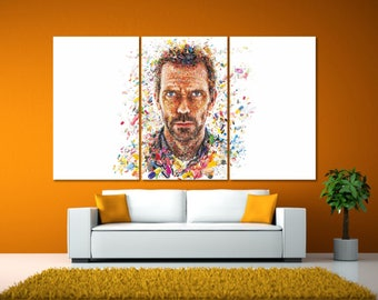 Doctor House Poster, Dr. House Canvas Print, Dr House Wall Art, Movie Poster, Dr. House MD Art Print, Minimal Movie Poster, Film Poster LC98