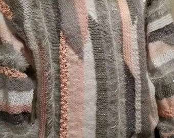 Very pretty grey/pink sweater