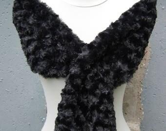 Animal Print Wrap - Black Fur Shawl - Animal Print Shawl - Animal Print Scarf - Leopard Print Scarf - Leopard Print Wrap - Black Fur Scarf