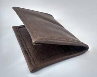 Leather Multipocket Cardholder Brown