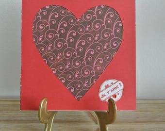 Valentine's Day card - I love and heart