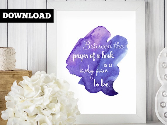 Book quote art print - Book club gift - Bookish quote gift - Reading party - Writer gift print - Literary wall decor - Book lovers gift