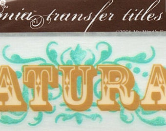 All Natural Title Rub On Transfer Embellishments Cardmaking Crafts My Mind's Eye Bohemia