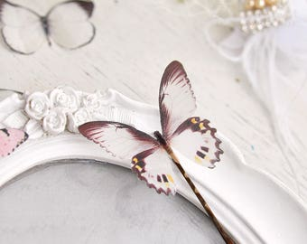 butterfly bobby pin wedding hair pin bridal hair piece bridal hair pin butterfly jewelry hair Accessory brown butterfly Prom Hair Gifts clip