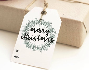 Christmas Gift Tags | Printable Gift Tag | Merry Christmas | Present Tags | Favor Tag | To From Cards | Instant Download | Favor Bag Tag