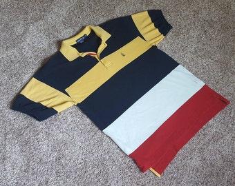 Vintage 1990s Nautica Striped Polo Shirt