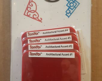 Sizzix Die - Architectural Accents Set - New - 38-9846